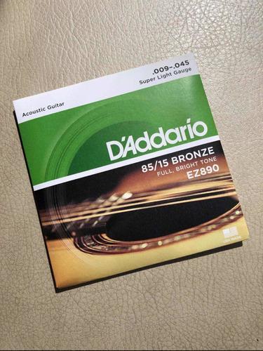 Encordado D'addario Guitarra Acústica Bronce .009