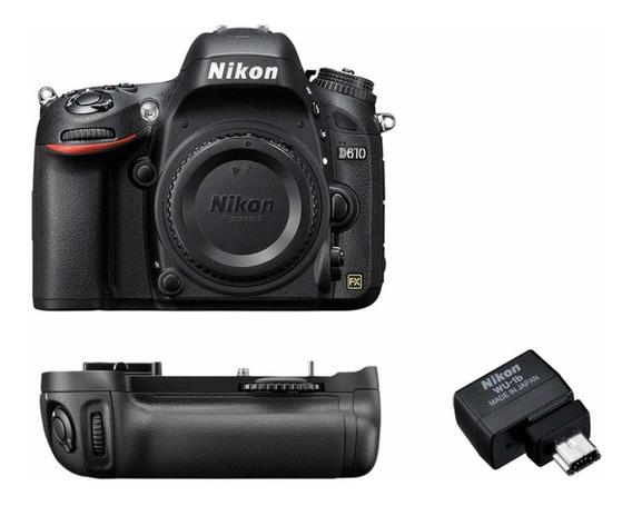 Camera Nikon D610 + Baterygrip Mb-d14 + Adaptador Wifi