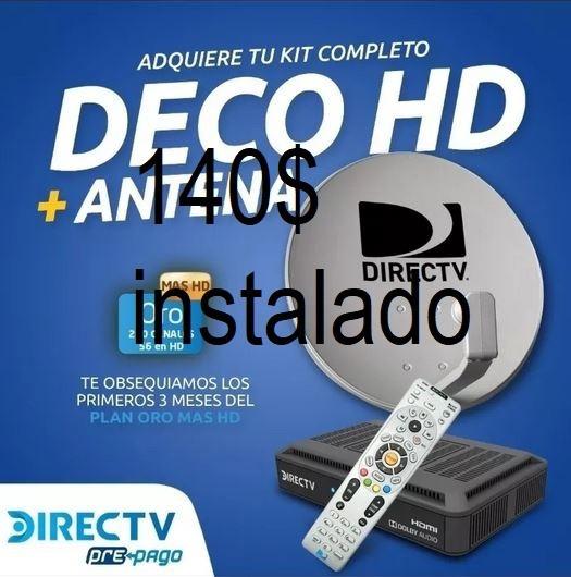 Kit De Directv Prepago Decodificador Venezolano (95v)