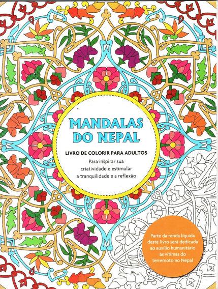 Livro De Colorir Para Adulto Antiestresse Mandalas Do Nepal