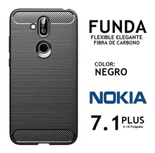 Funda Cover Elegante Flexible Nokia 7.1 Plus Rosario