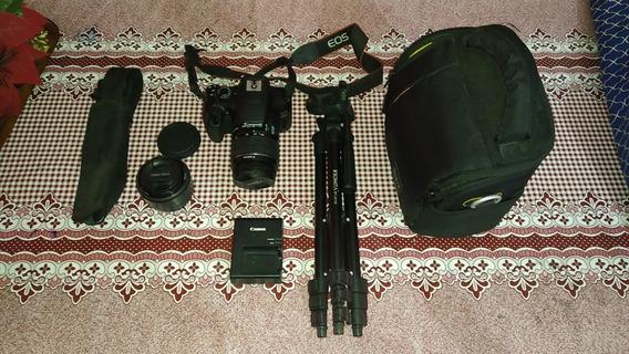 Canon Eos Rebel T6 + 2 Lentes + Trípode + Estuche