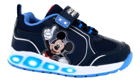 Zapatillas Disney Mickey Mouse Footy Con Luces Boton On/off