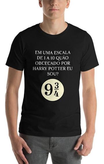 Camiseta Harry Potter Masculina Preta