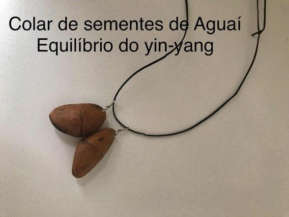4 Colares Sementes De Aguaí Yin-yang