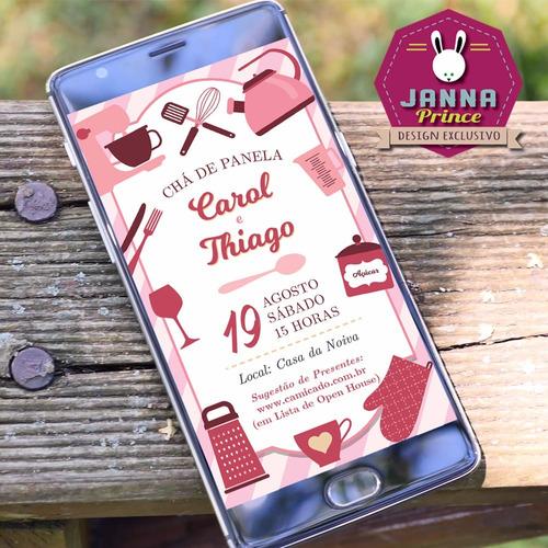 Imagem 1 de 1 de Convite Digital Para Chá De Panela - Whatsapp