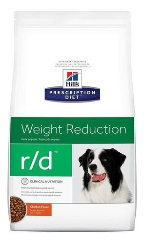 Imagen 1 de 1 de Alimento Hill's Prescription Diet Weight Reduction r/d para perro adulto sabor pollo en bolsa de 27.5lb