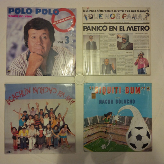 Lote 4 Lp Disco Acetato Polo Polo Comedia Chiste Tv Risa