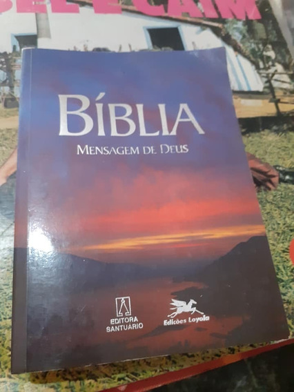 Bíblia Sagrada Mensagens De Deus-santuário-raro+brinde