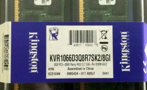 Kingston 8gb Kit De 2 Kvr1066d3q8r7sk2/8g Para Servidores