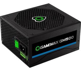 Fonte 500w Gamemax Gm500 80 Plus Bronze - Nova - Sem Caixa