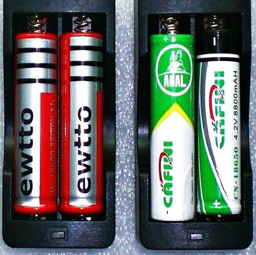Imagen 1 de 6 de Cargador Doble Carga Rapida Para Pila Bateria 18650 Li-ion