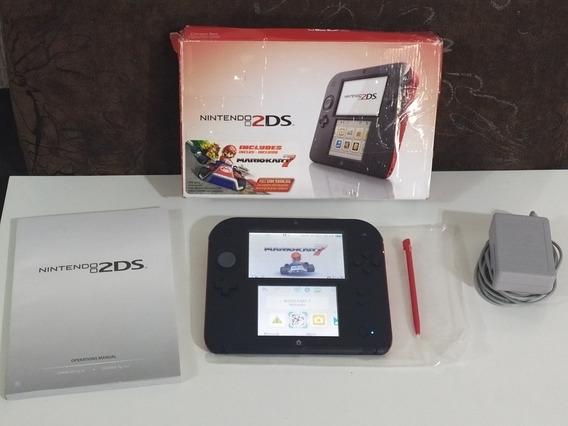 Nintendo 2ds + 32gb Lotado De Jogos