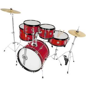 Bateria Infantil Profissional Nagano One Drum Red Metalic