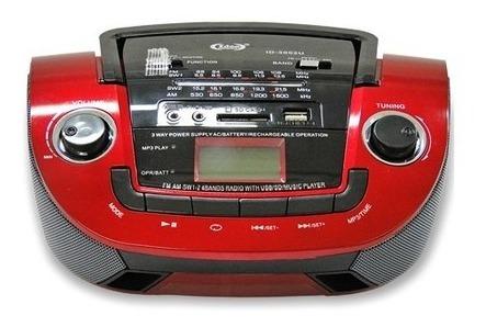 Som Rádio Fm Mp3 Usb Sd Recarregável Idea Id3001u Portátil