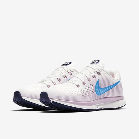 Tênis Feminino Nike Air Zoom Pegasus 34 Branco Original