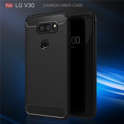 Estuche Protector Fibra Carbono LG V30 G8 Q6