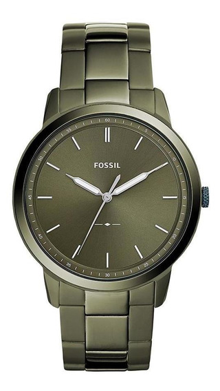 Relógio Fossil Masculino The Minimalist Verde Fs5460/1vn
