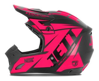 Capacete Motocross Feminino Rosa Pro Tork Jett Evolution