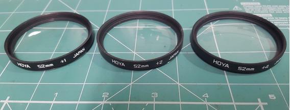 Filtros Close-up 52mm Para Macrofotografia Hoya Japan- Jogo
