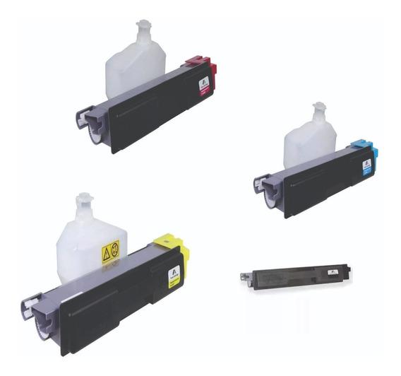 Cartucho De Toner P Kyocera Fs-c2026 C2126 C2526 Kit 4 Cores