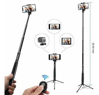 Mjiands Selfie Stick Trípode Monopié Extensible De 360 Con M