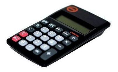Calculadora Bolso 8 Dígitos Jocar Office 81015b Preta (3unds