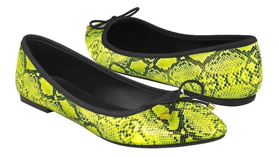 Zapatos Casuales Para Dama Stylo 10596 Amarillo Neón