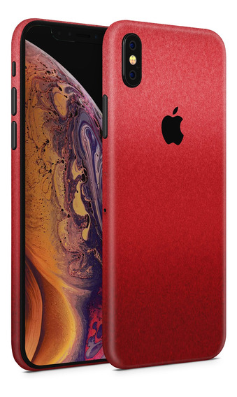 Skin Rojo Metalico Para Telefonos Apple iPhone