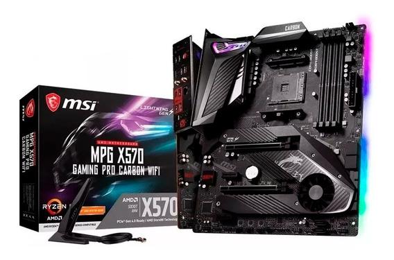 Placa Mae Msi Mpg X570 Gaming Pro Carbon Wifi Amd Am4 Ddr4