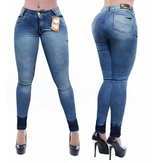 Calça Jeans Cheris Feminina Estilo Pitbull Levanta Bumbum