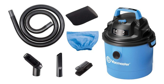 Vacmaster, 1500w, 10litros, 2hp, Agua/polvo 2 Años Garantía