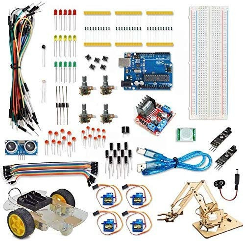 Kit Robótica Arduino (carro E Braço) + Sensor De Linha.