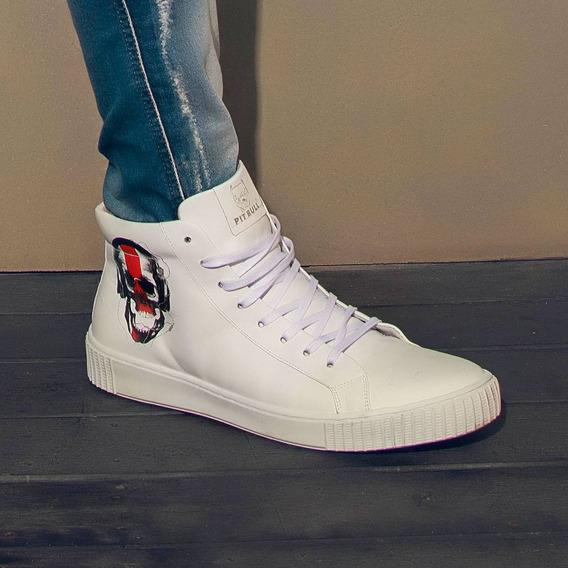 Tênis Masculino Pit Bull Jeans Cano Alto 35457