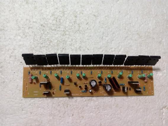 Amplificador 600w Placa Motada Com 12 Transistores 2ohms