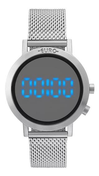 Relógio Euro Eubj3407ab/3p Digital Led Prateado Sabrina Sato