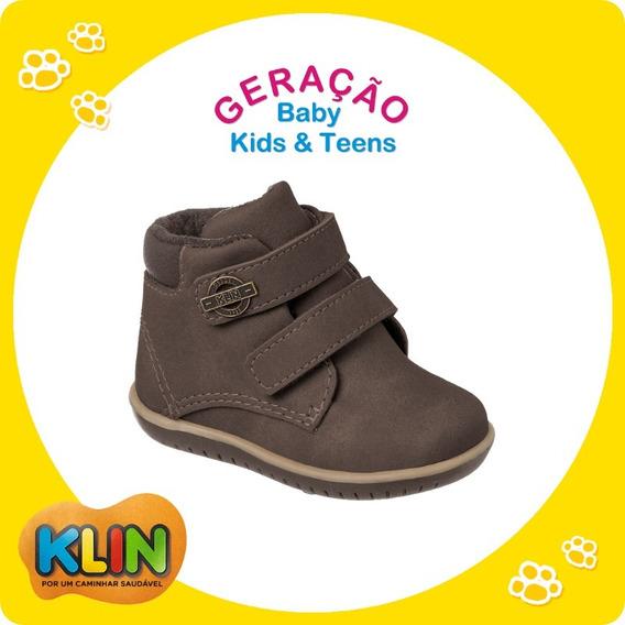 Sapato Casual Bota Bebê Infantil Menino Klin 20750 / 20877
