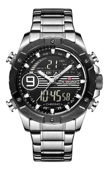 Relógio Masculino Naviforce Nf9146 Analógico/digital +caixa