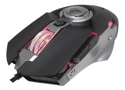 Imagen 1 de 3 de Mouse Gamer Eagle Warrior Hive Led 3200dpi Usb 6 Botones