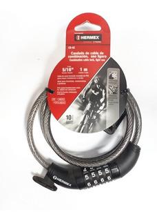 Candado Guaya Cable Para Bicicleta Clave 1 Metro Hermex