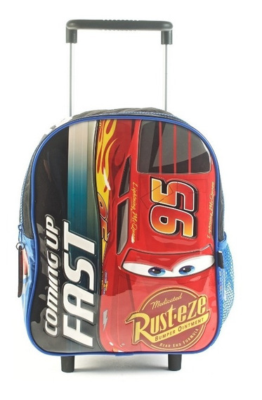 Mochila Cars Coming Up Fast Azul Con Carro