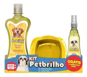 Shampoo Xampu+colonia Filhote+comedouro,(kit 3x1) Petbrilho