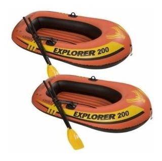 Bote Inflável Explorer 2 Pessoas Remos + Bomba- Bestway