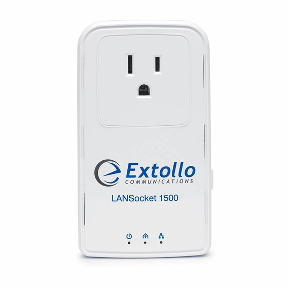 Extollo Ethernet Powerline Lansocket 1500 Homeplug Av2 Mimo