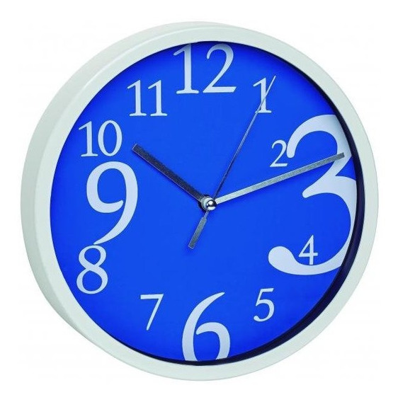 Relógio De Parede Azul Números Grandes Alemão Tfa