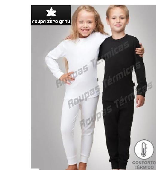 Blusa Térmica Peluciado Frio Inverno Infantil Criança+calça