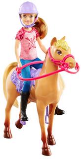 Muñeca Barbie Stacie Y Caballo Campaña Divertida