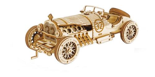 Imagen 1 de 9 de Auto V8 Gran Prix Robotime Madera Armar Bloques Niños