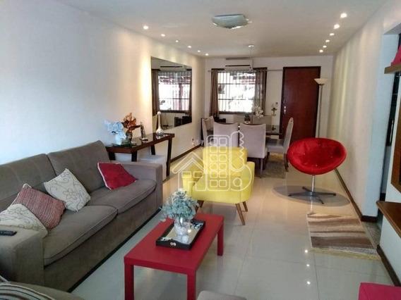 Casa Com 3 Dormitórios À Venda, 181 M² Por R$ 580.000,00 - Itaipu - Niterói/rj - Ca0777