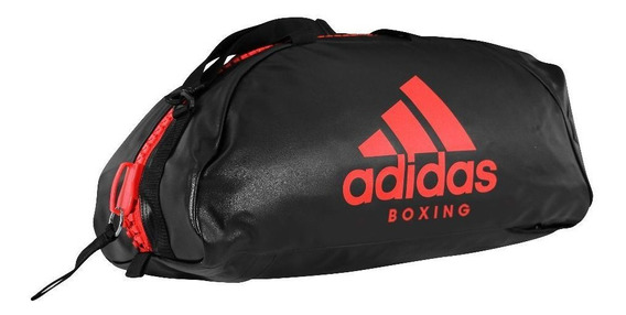 Bolsa Mochila adidas Boxing 2in1 Pu Preto/vermelho-65l